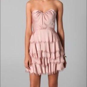 Rebecca Taylor tiered satin dress